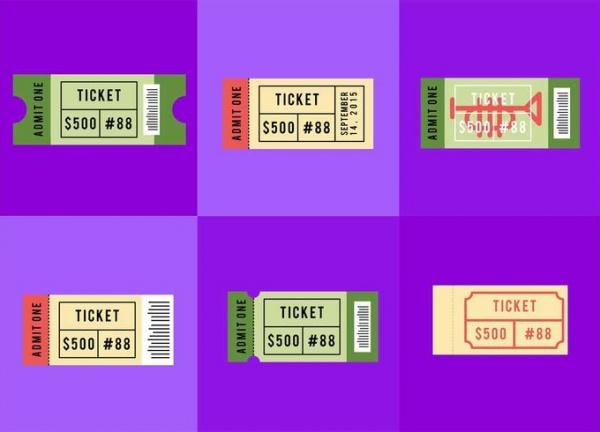 Vector Concert Ticket