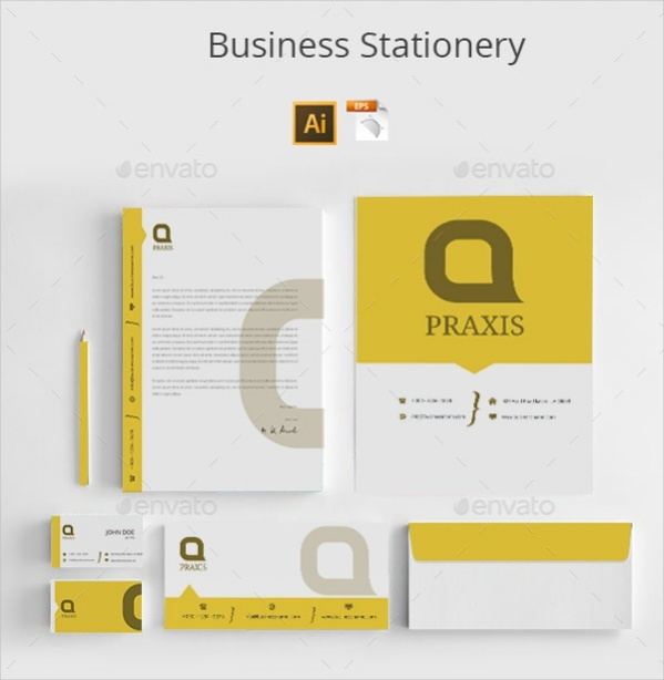 Vector EPS Business Stationery