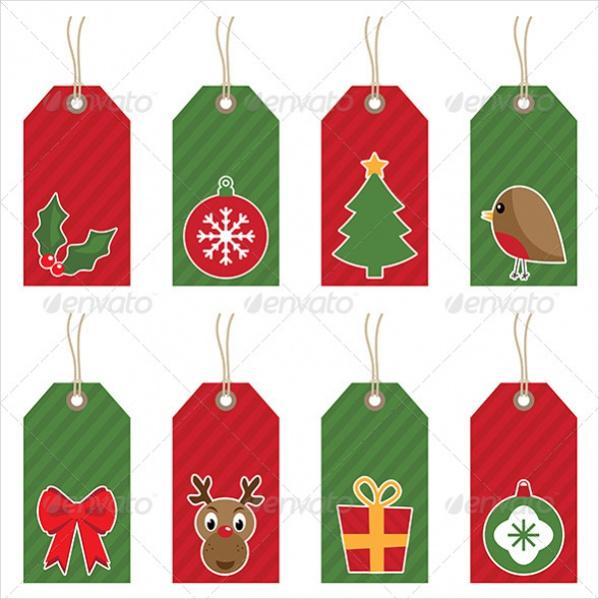 Vector EPS Christmas Tags