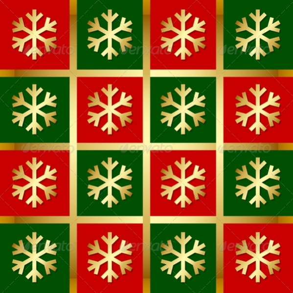 Vector EPS Colorful Snowflake Pattern