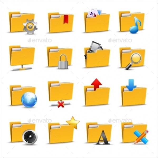 Vector EPS Folder Icon Set