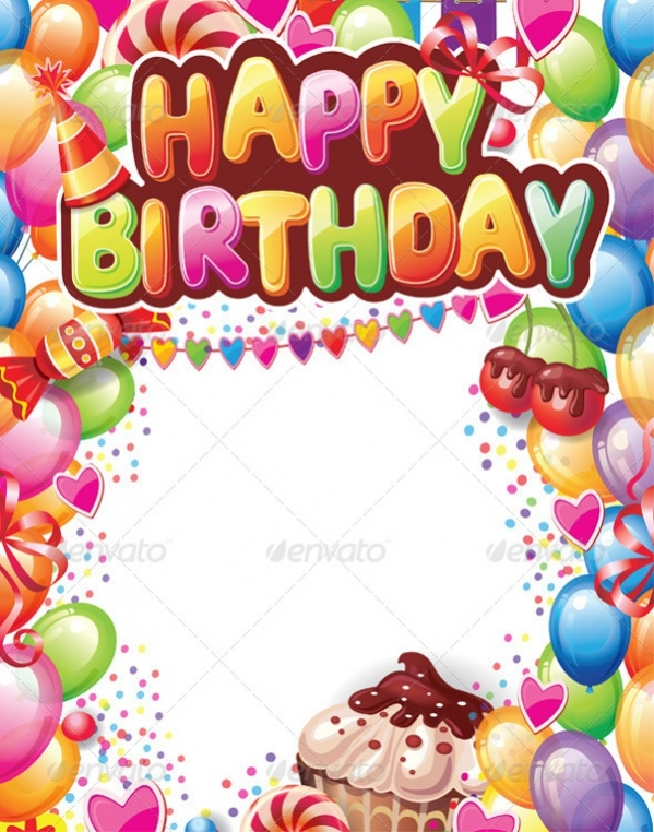 Vector EPS Happy Birthday Card