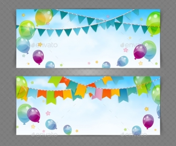 Vector EPS Party Banner