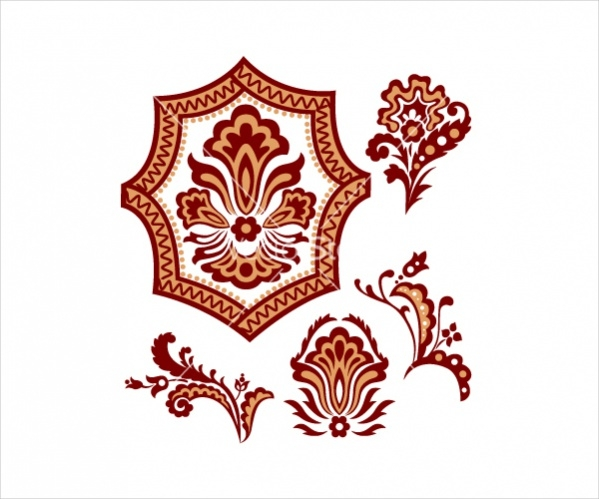 Vector Flower Paisley Pattern