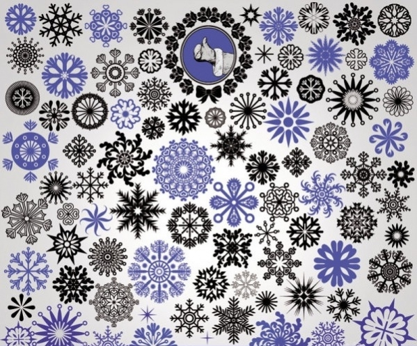 Vector Free Snowflake Pattern
