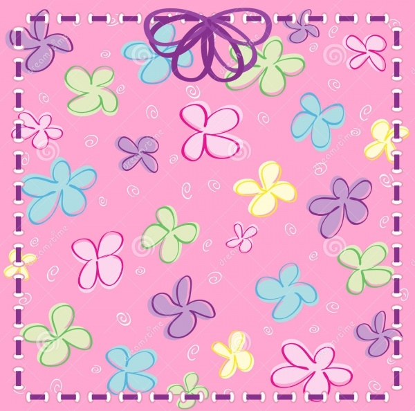 Vector Girly Flower Background