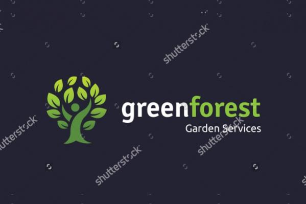 Vector Green Tree Logo