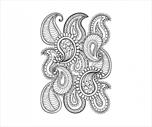 Vector Hand Drawn Paisley Pattern