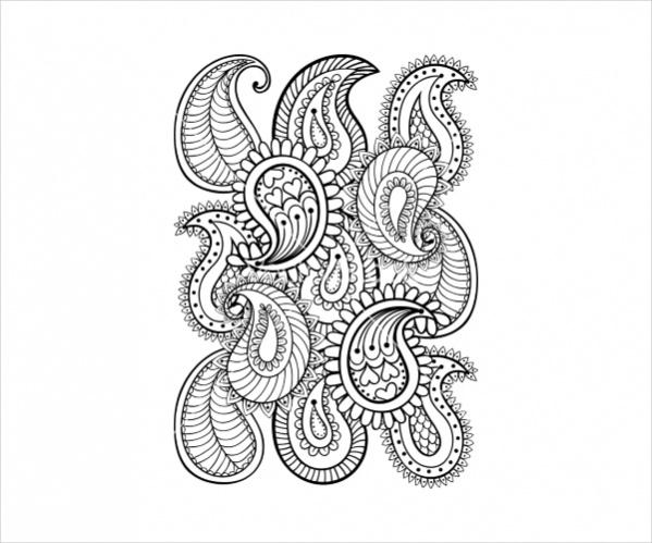 Vector Hand Drawn Paisley Pattern