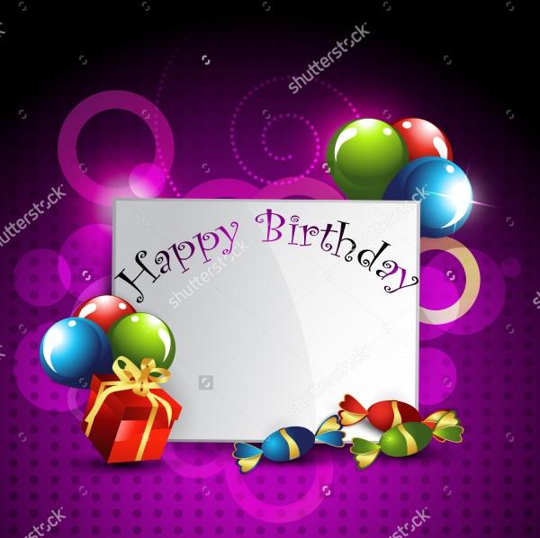 Vector Happy Birthday Banner
