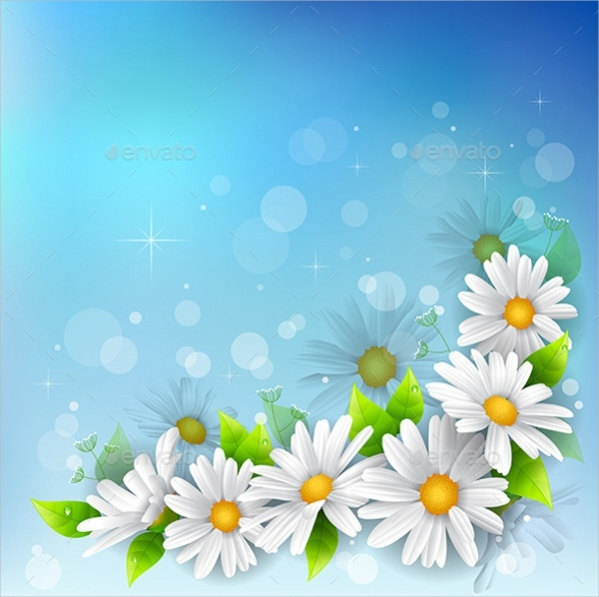 Vector High Quality Flower Background