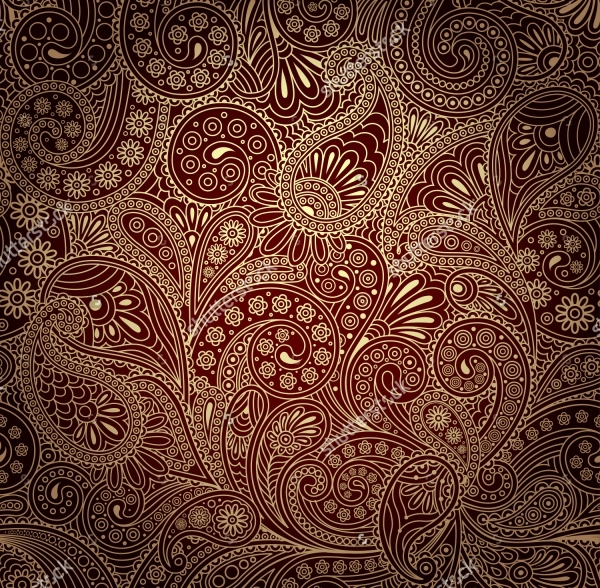 Vector High Quality Paisley Pattern
