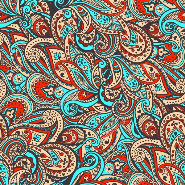 Vector High Resolution Paisley Pattern