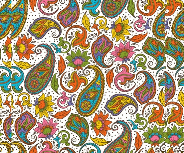 Vector Indian Paisley Pattern
