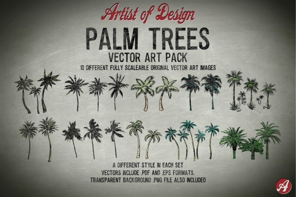 vector palm tree clipart
