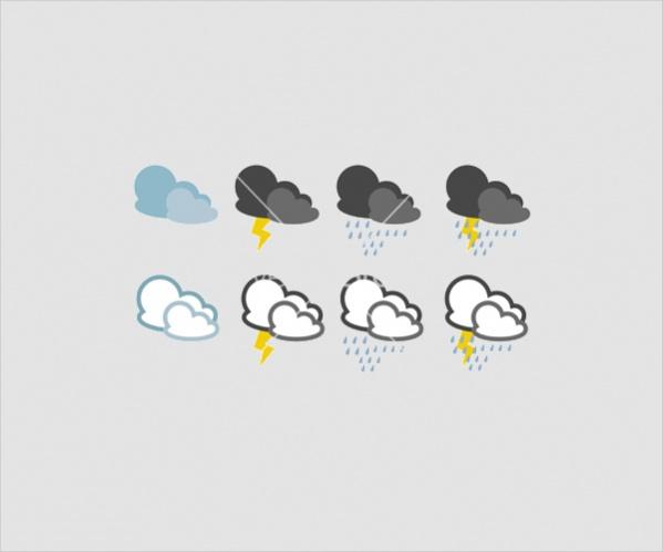 Vector Rainy Weather Icons