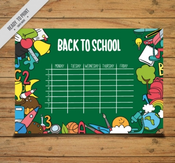 Vector School Calendar