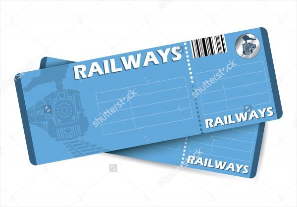 Vector Train Tickets