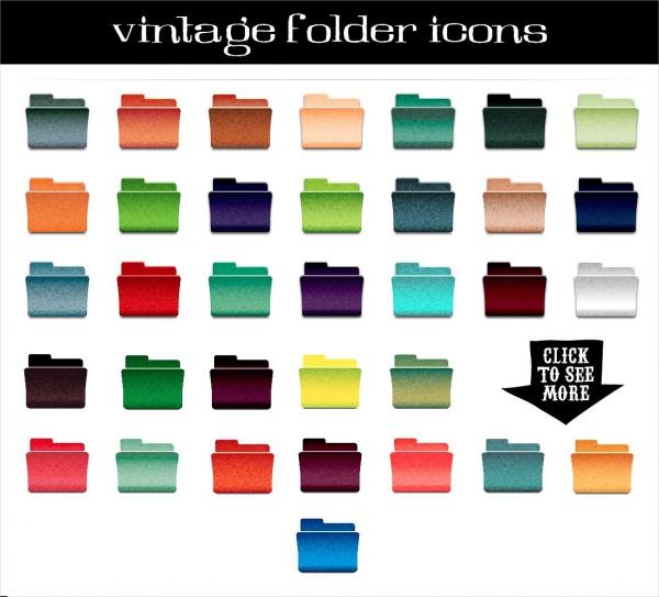 Vector Vintage Folder Icons