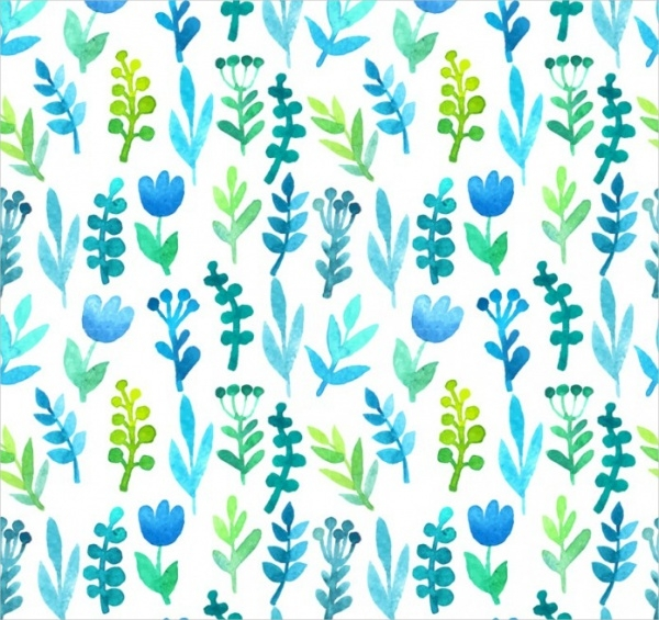 Vector Watercolor Flower Background Design
