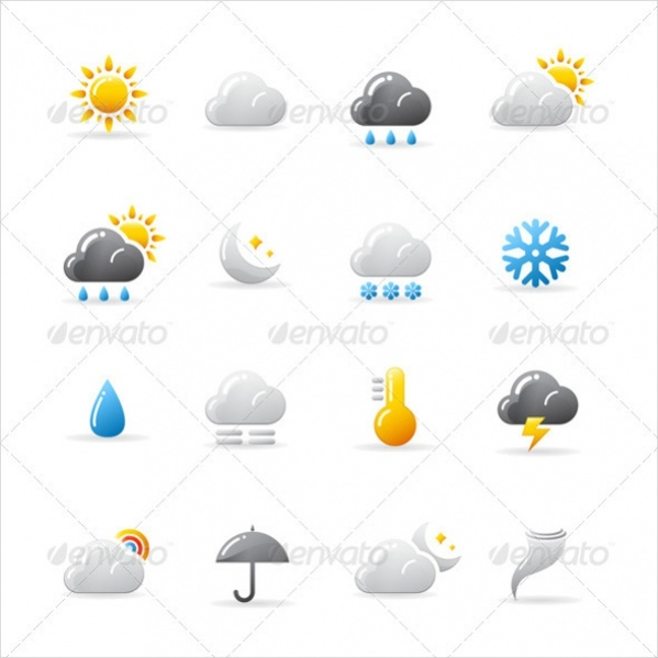 Vector Weather Desktop Icons