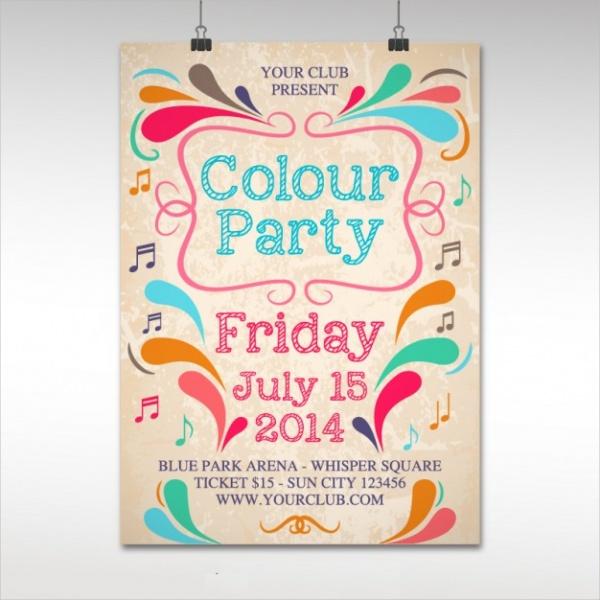Vinatge Colour Party Poster