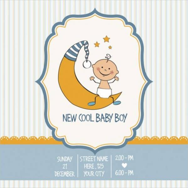Vintage Baby Shower Card Design