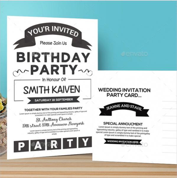 Photoshop Birthday Invitation 1