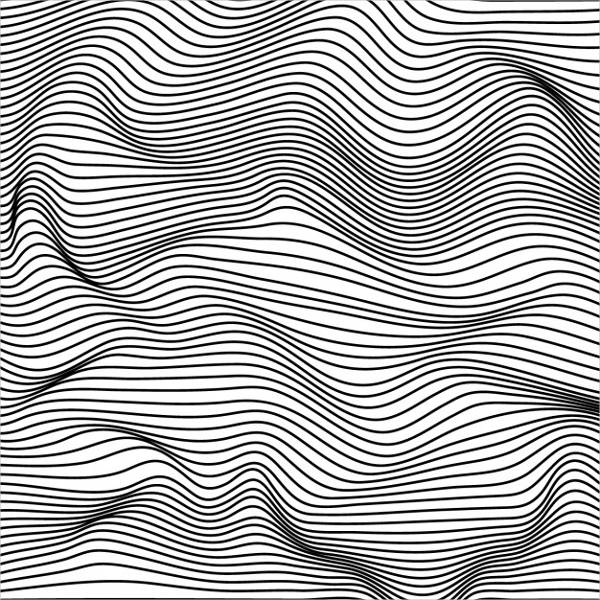 Vintage Black and White Lines Pattern