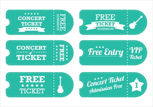 Vintage Concert Tickets