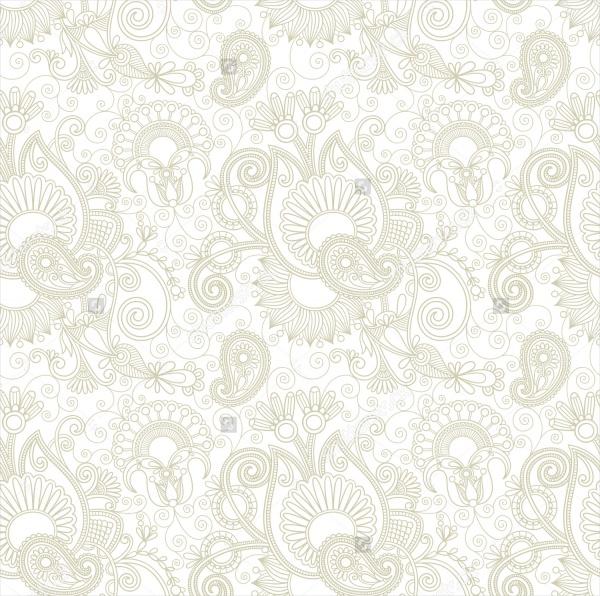 Vintage Floral Paisley Pattern