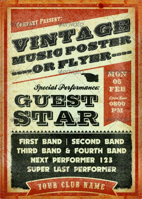 Vintage Music Poster Design