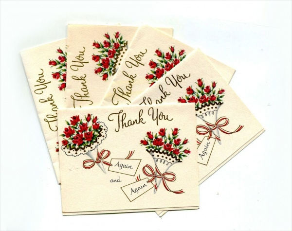 Vintage Paper Stationary Thank You Card