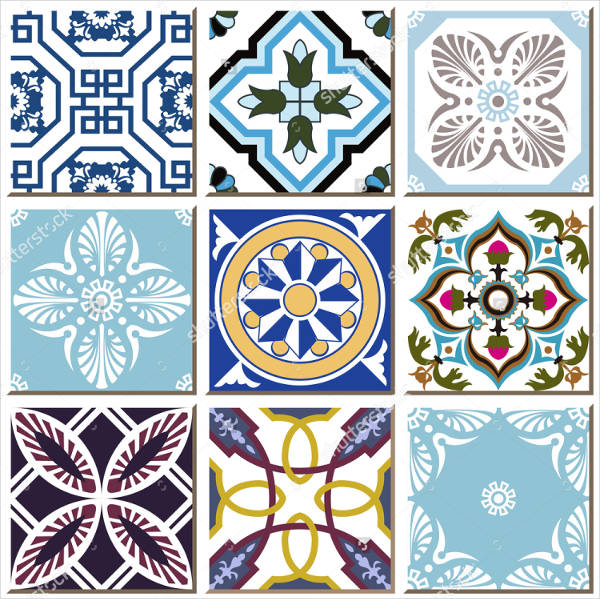 Vintage Retro Tile Pattern