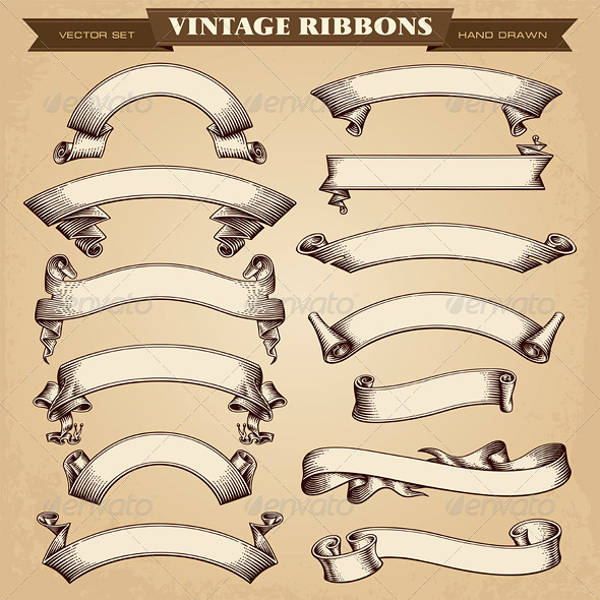 Vintage Style Ribbon Banners