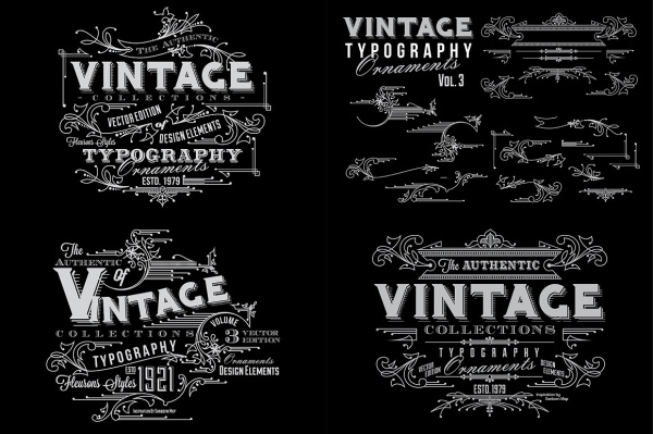 Vintage Typography Ornaments
