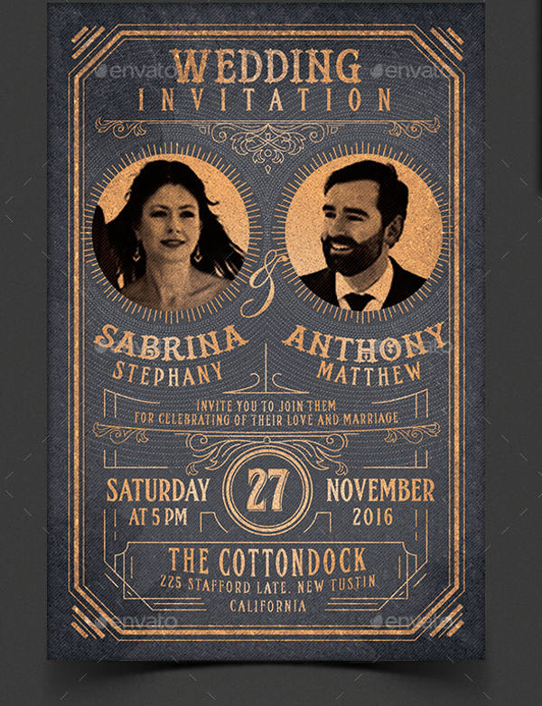Vintage Wedding Invitations Cheap