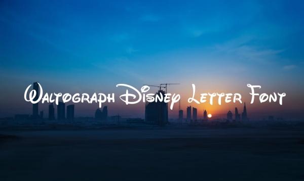 Waltograph Disney Letter Font