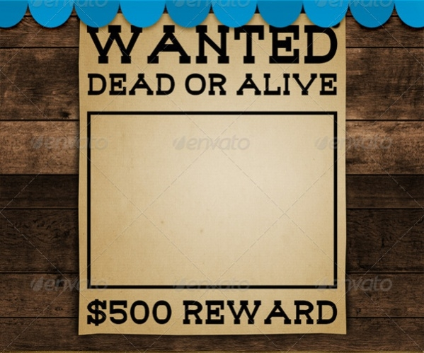 19 Wanted Poster Designs PSD Vector EPS Download – Free Wanted Poster Template