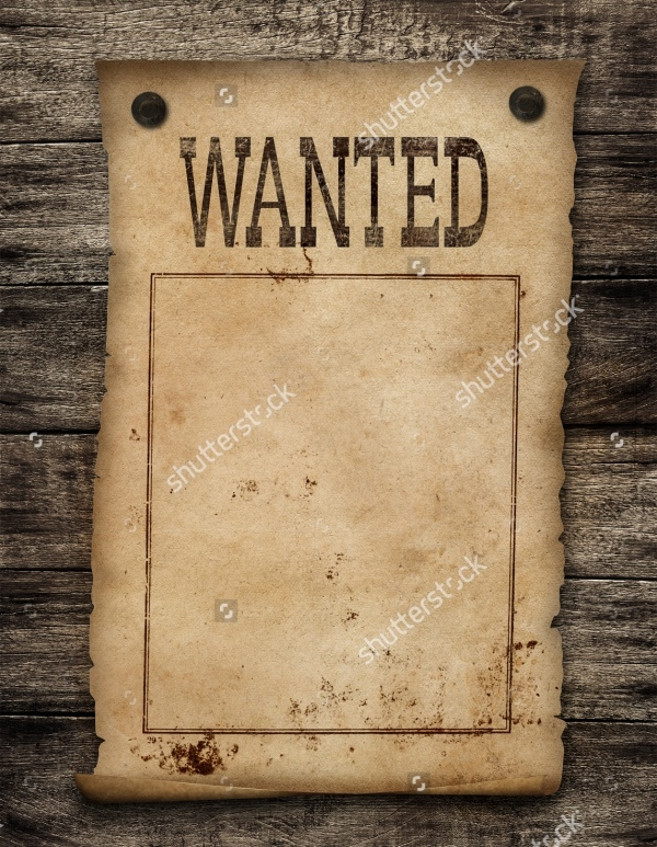 Wanted Poster For Printable