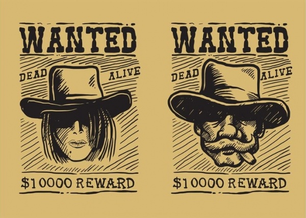 Wanted Vector Poster