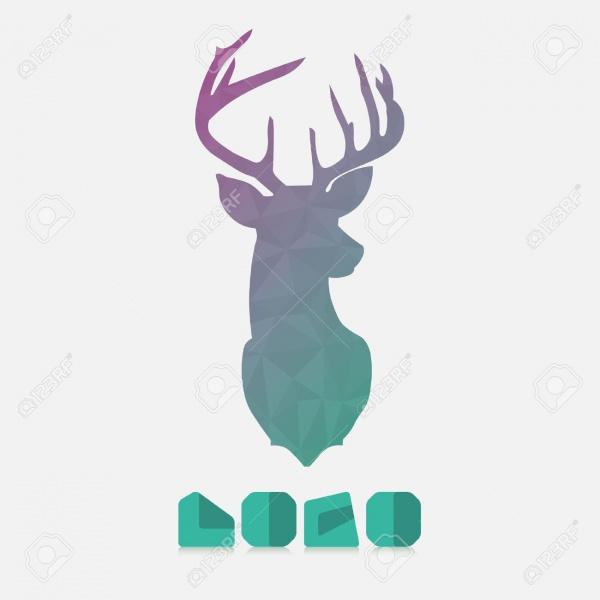 Watercolor Deer Silhouette
