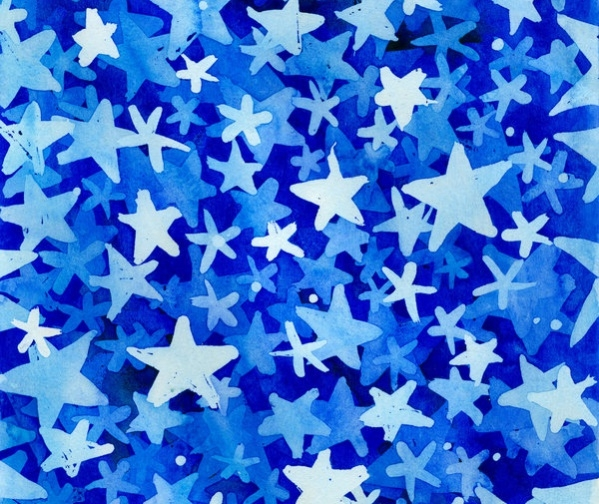 Watercolor stars texture