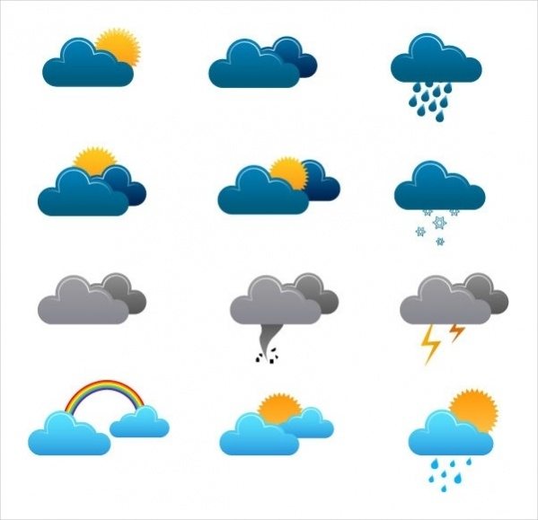 Weather vector icons Design