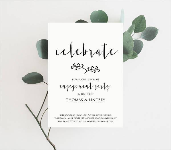 Wedding Engagement Party Invitation