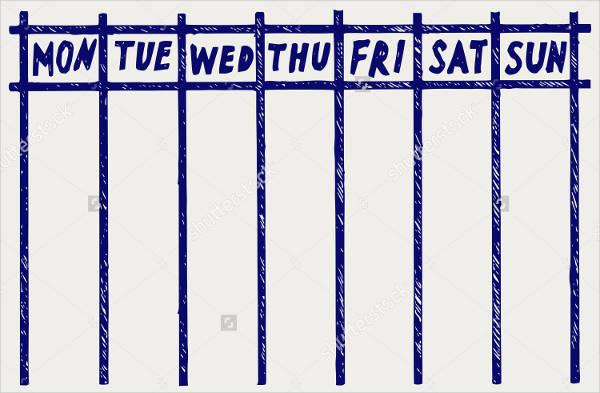 Weekly Workout Calendar