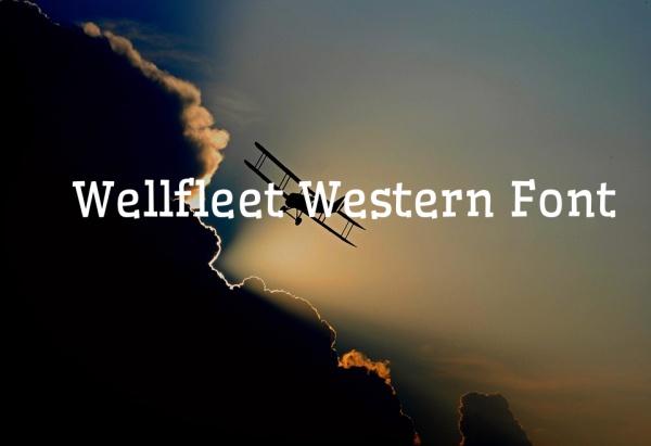 wellfleet western font