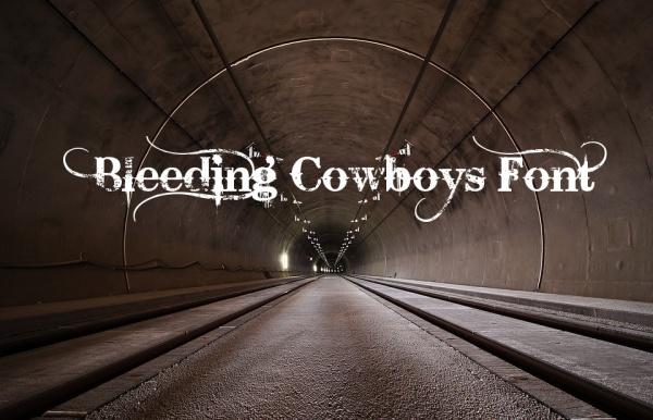 western bleeding cowboys font