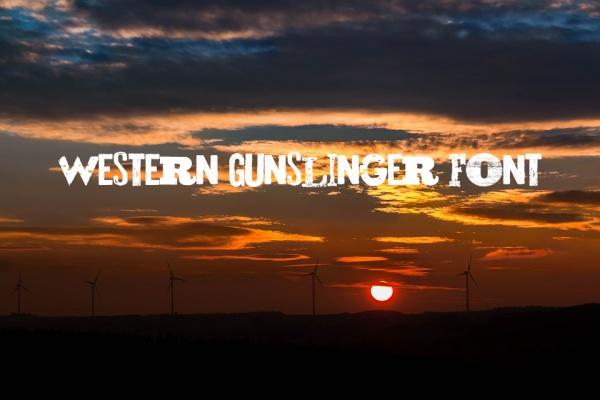 western gunslinger font