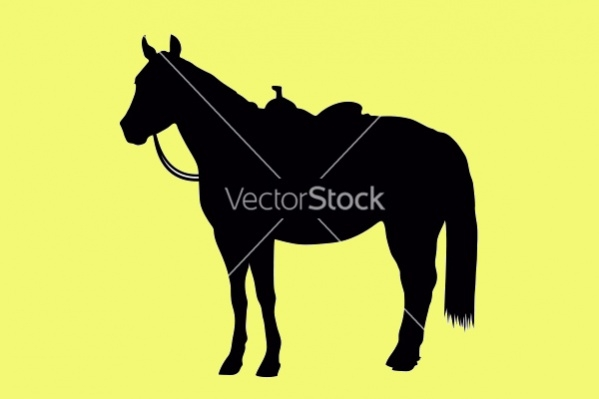 Western Horse Silhouette Vector